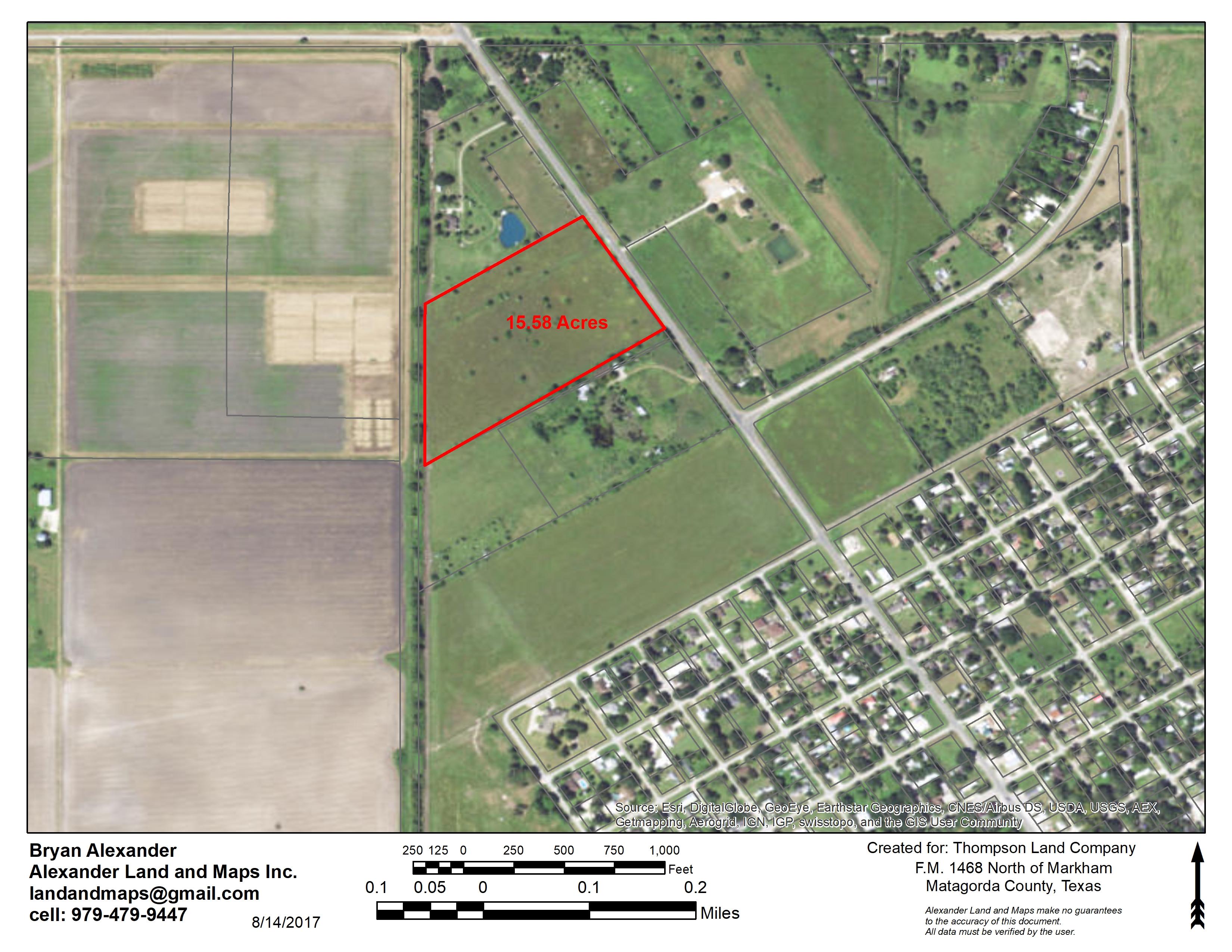 15.58 Acres in prime location, Markham, TX SOLD!