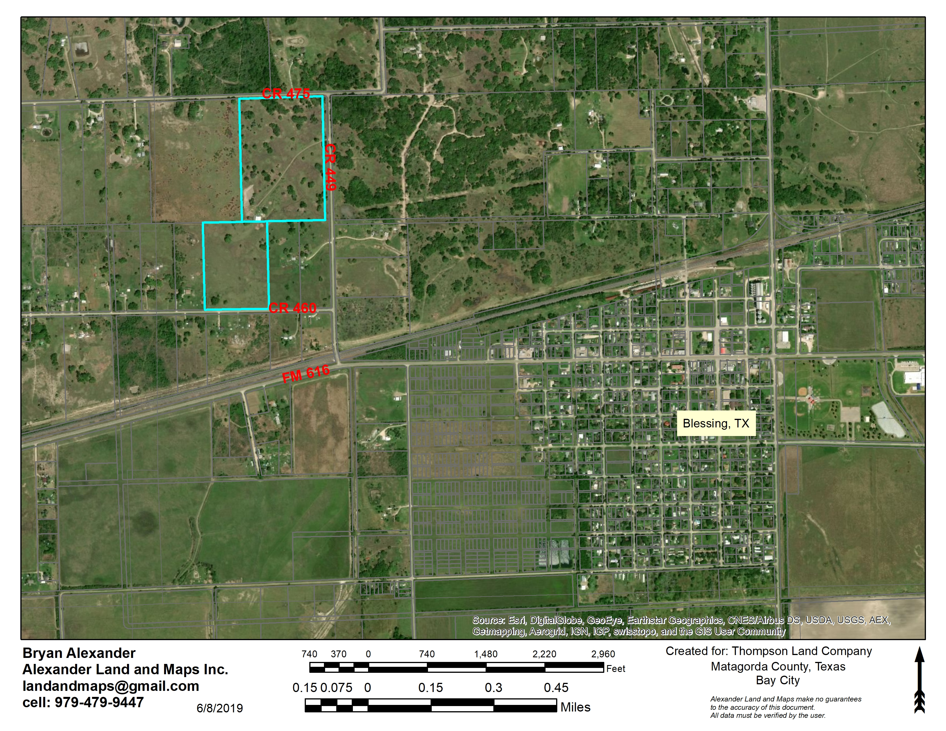 60 Acres in Blessing, TX