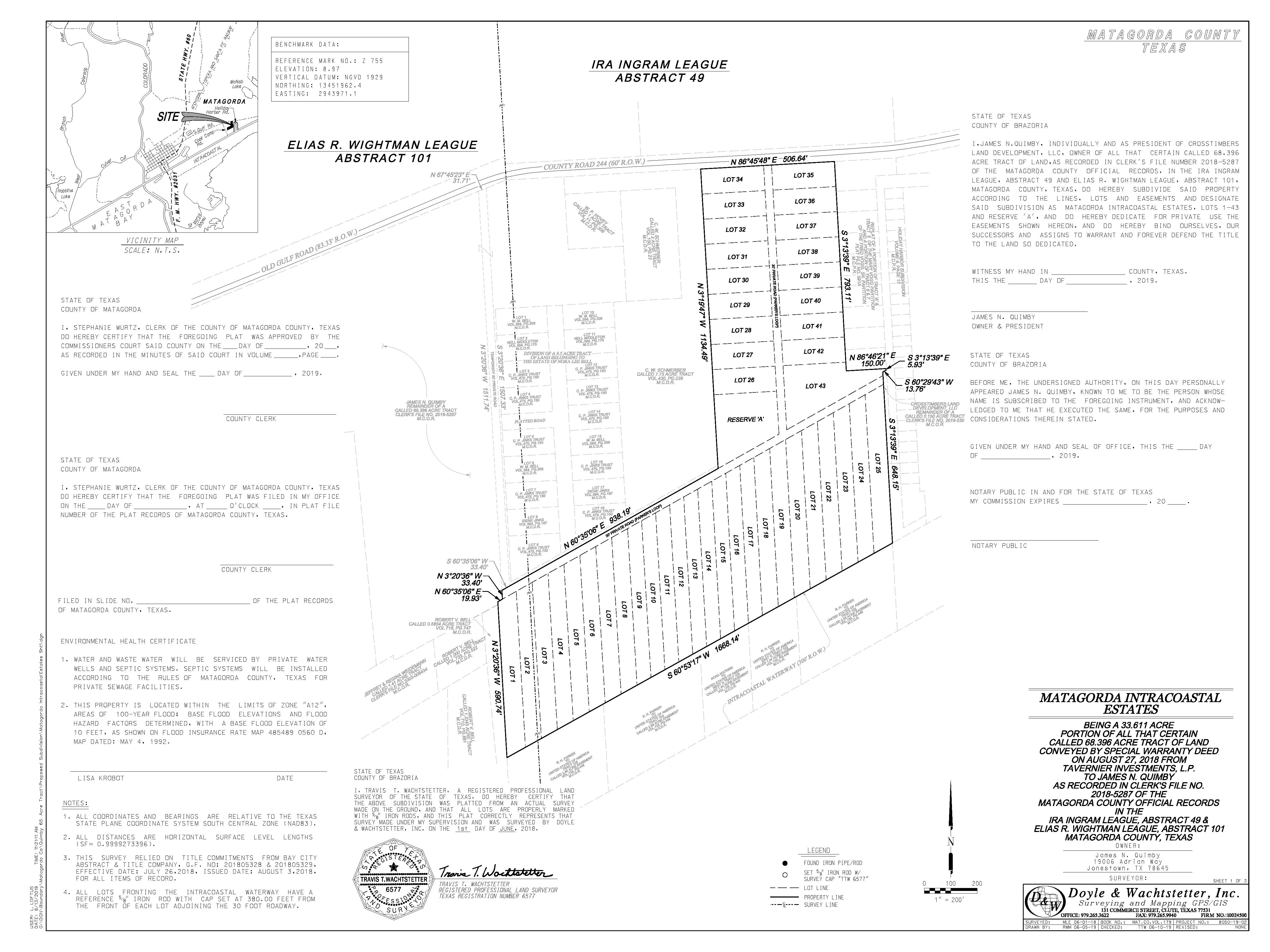 Crosstimbers Matagorda Land Development – Now available