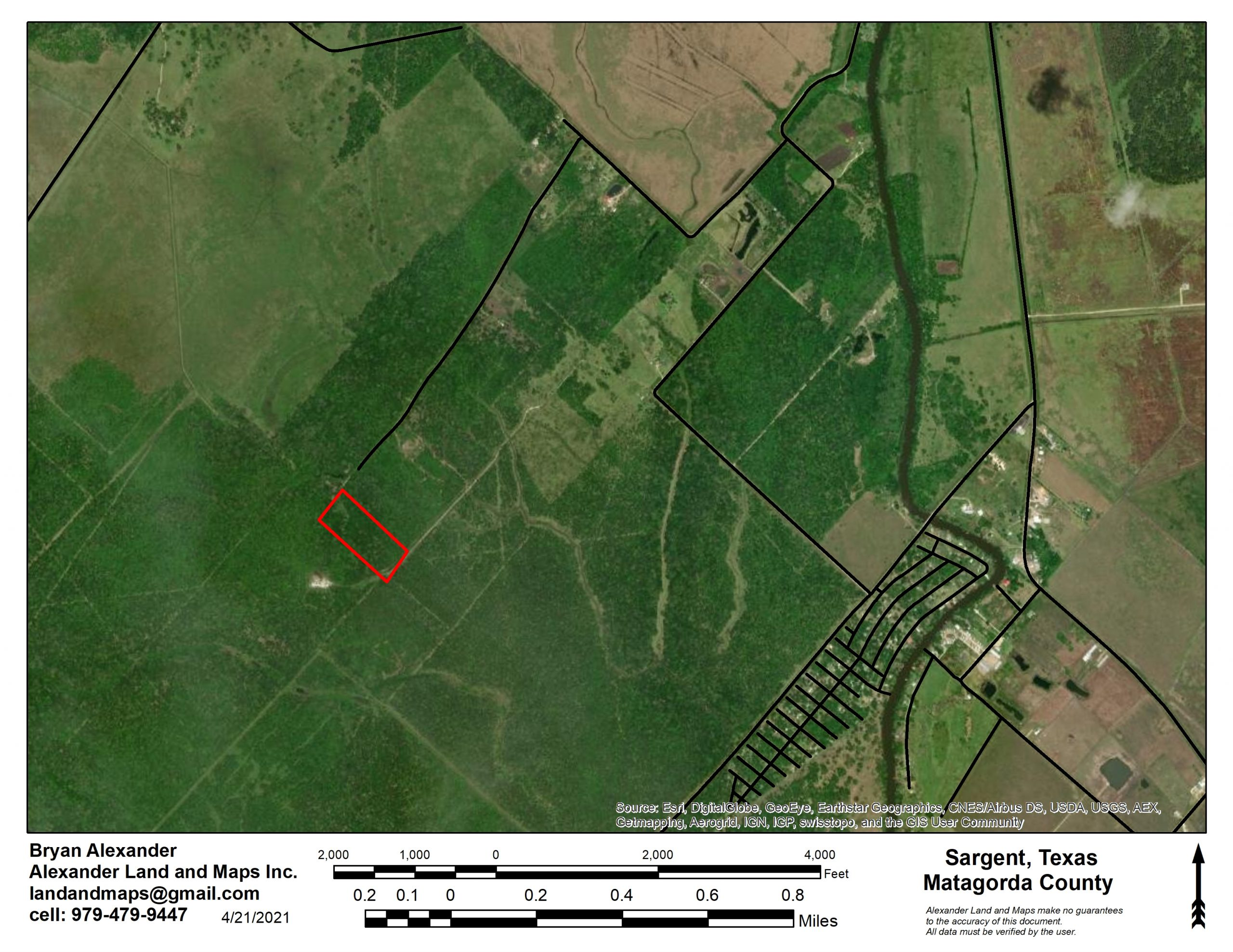 10 Secluded Acres in Sargent, TX
